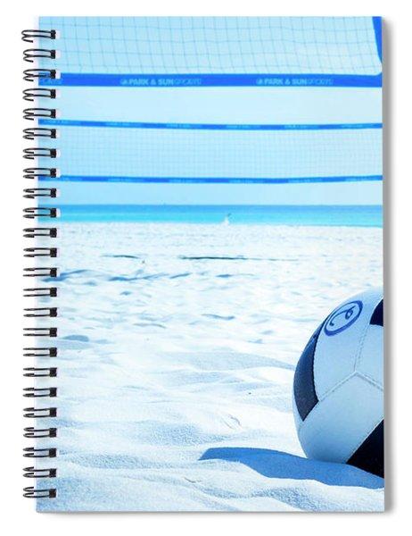 Volleyball On The Beach Spiral Notebook