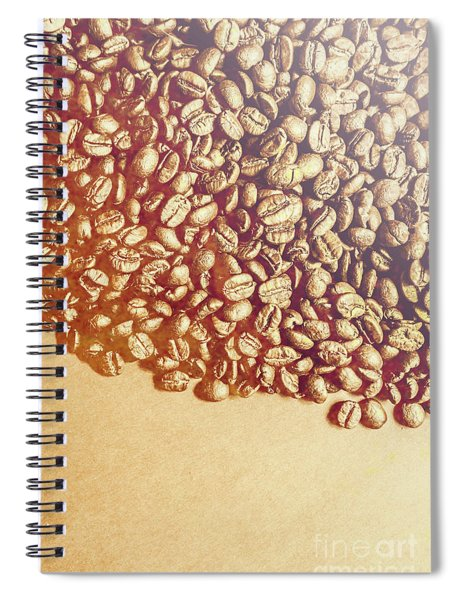 Bean Background With Coffee Space Spiral Notebook
