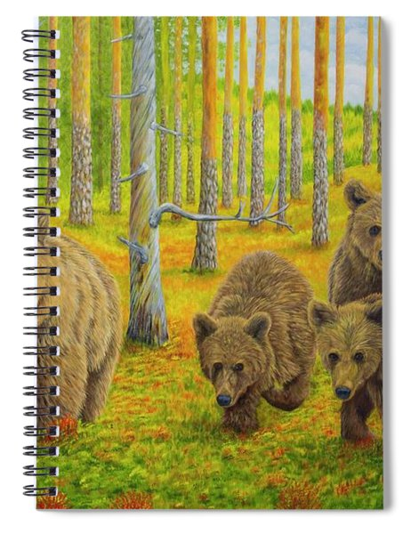 Bear Family Spiral Notebook