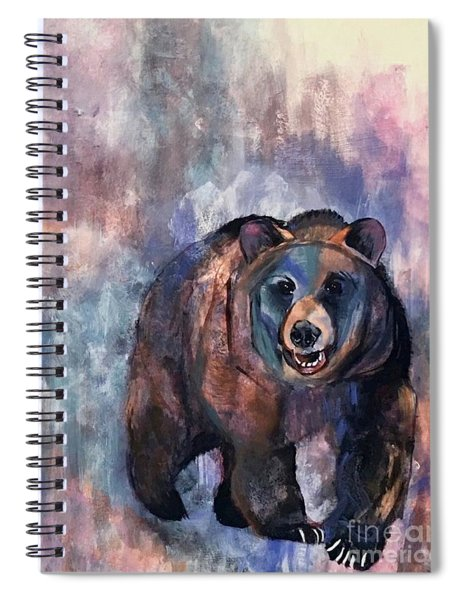 Bear In Color Spiral Notebook
