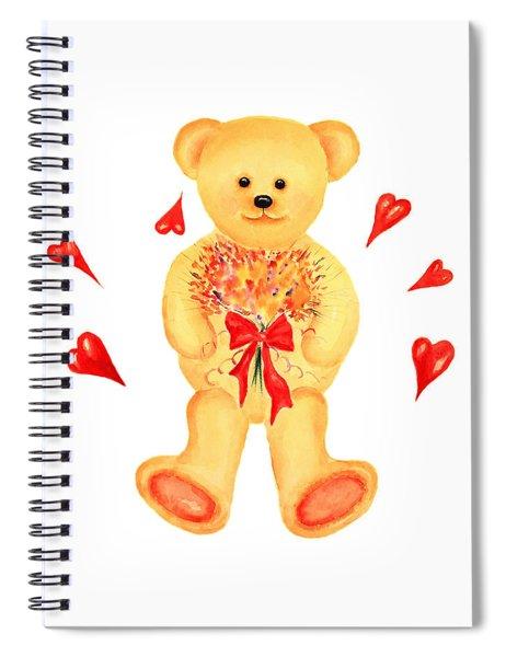 Bear In Love Spiral Notebook