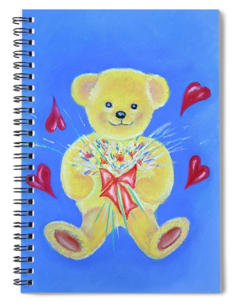 Bear With Flowers Spiral Notebook