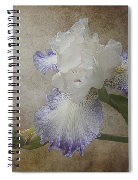 Spiral Notebook featuring the photograph Bearded Iris 'gnuz Spread' by Patti Deters