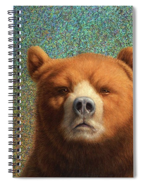 Spiral Notebook featuring the painting Bearish by James W Johnson