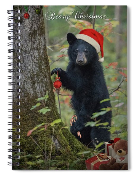 Beary Christmas Card Spiral Notebook