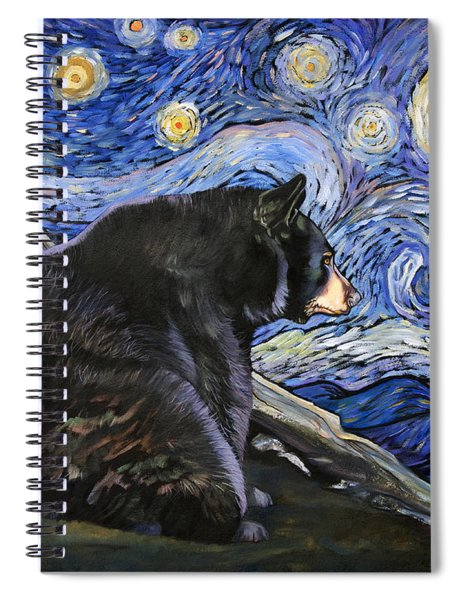 Beary Starry Nights Spiral Notebook