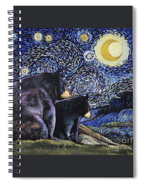 Beary Starry Nights Too Spiral Notebook