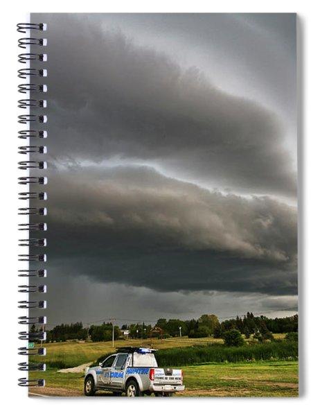 Beast Over Yorkton Spiral Notebook