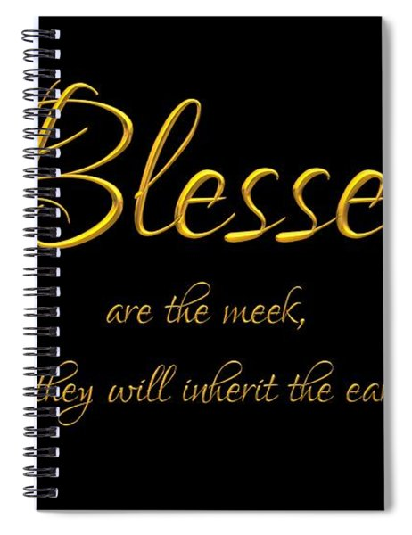 Beatitudes Blessed Are The Meek For They Will Inherit The Earth Spiral Notebook