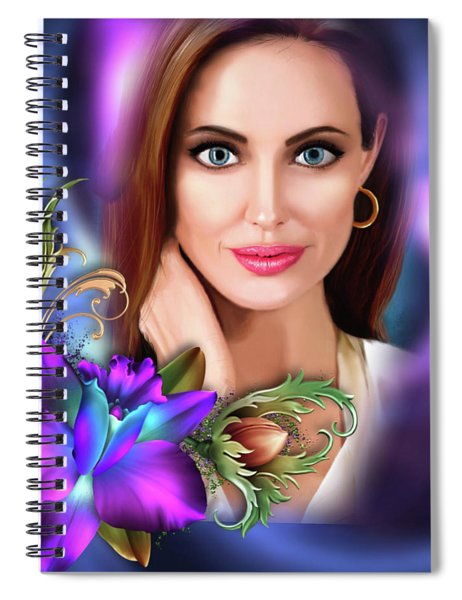 Beautiful Angie Spiral Notebook