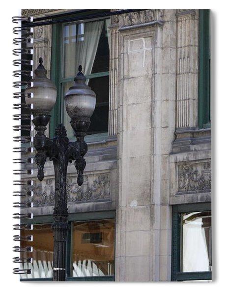 Beautiful Chicago Gothic Grunge Spiral Notebook
