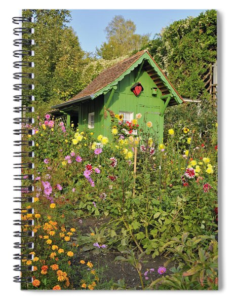 Beautiful Colorful Flower Garden Spiral Notebook