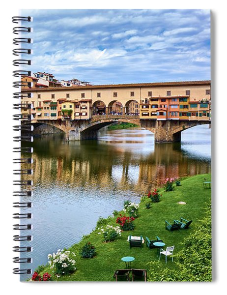 Ponte Vecchio On A Spring Day In Florence, Italy Spiral Notebook
