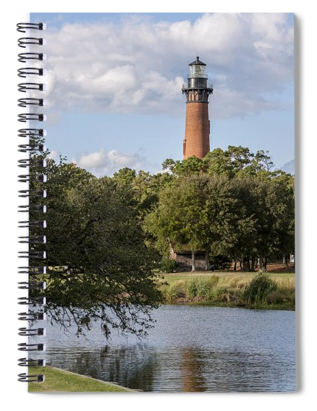 Beautiful Day At Currituck Beach Lighthouse Spiral Notebook