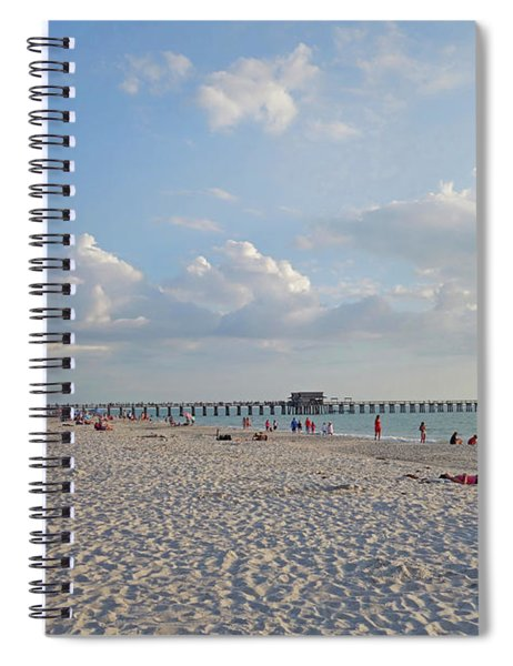 Beautiful Day On Naples Beach Naples Florida Spiral Notebook