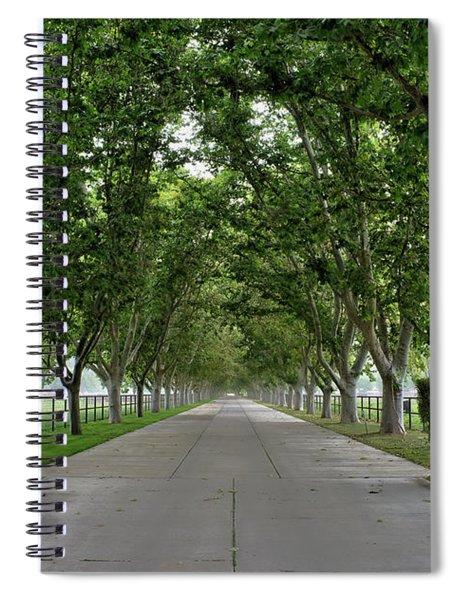 Entrance To River Edge Farm Spiral Notebook