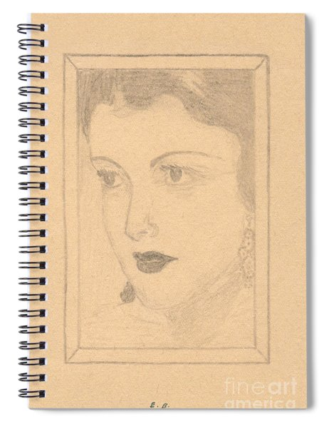 Beautiful Lady Face Spiral Notebook