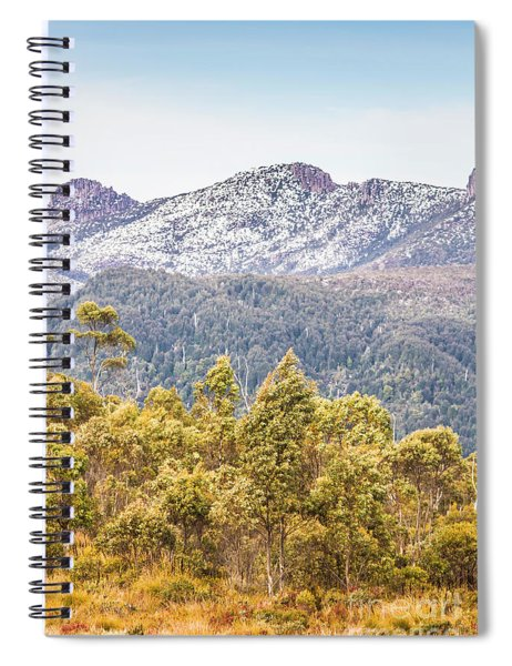Beautiful Landscape With Partly Snowed Mountain  Spiral Notebook