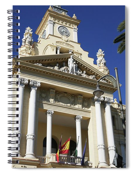 Beautiful Malaga City Hall Spiral Notebook