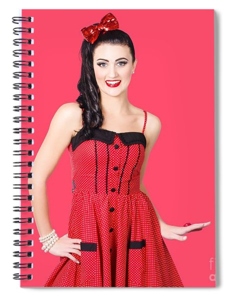Beautiful Pinup Girl With Pretty Smile Spiral Notebook