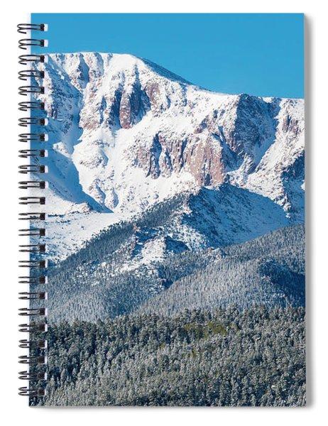 Beautiful Spring Snow On Pikes Peak Colorado Spiral Notebook