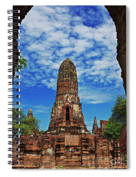 Beautiful Wat Phra Ram Temple In Ayutthaya, Thailand  Spiral Notebook