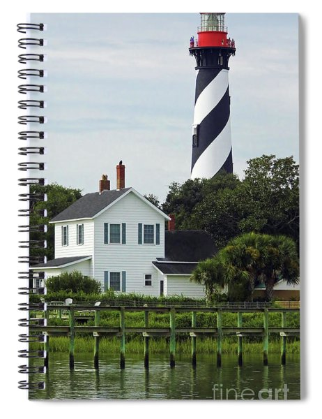 Beautiful Waterfront Lighthouse Spiral Notebook