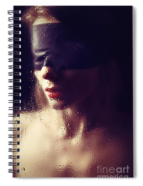 Beautiful Woman Blindfolded #8313 Spiral Notebook