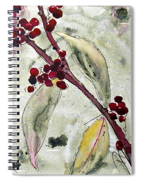 Beauty Berry Branch Spiral Notebook
