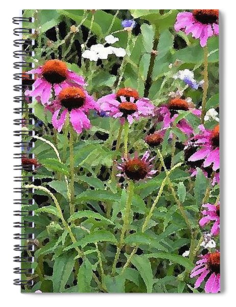 Beauty In The Flower Garden Spiral Notebook