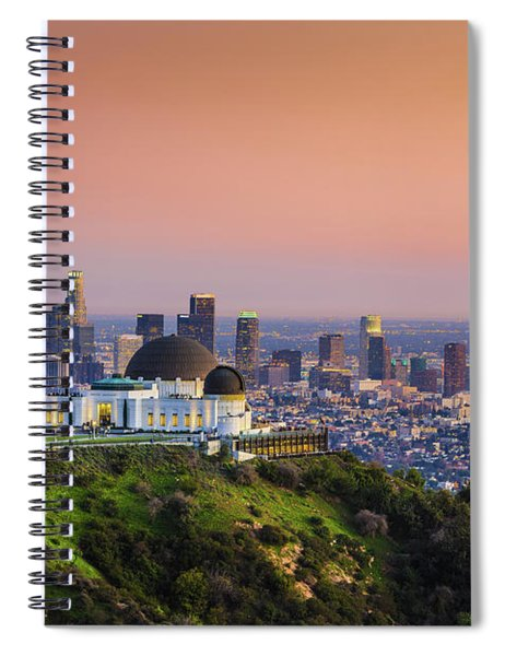 Beauty On The Hill Spiral Notebook