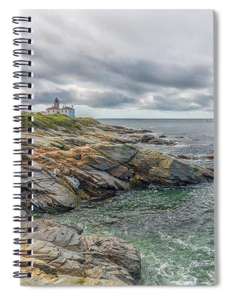 Beavertail Lighthouse On Narragansett Bay Spiral Notebook