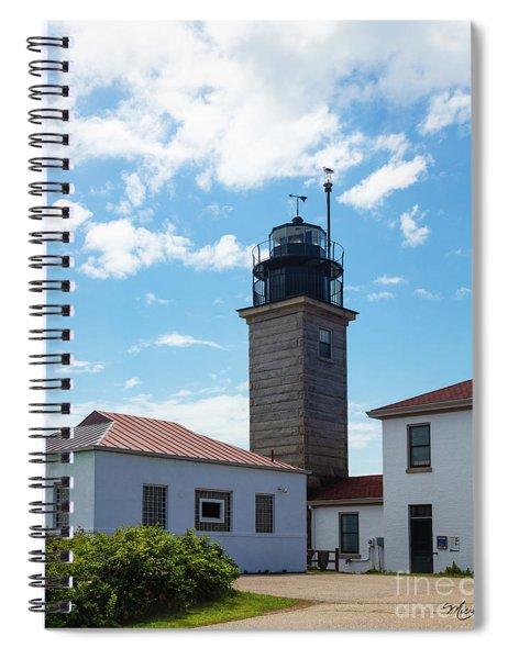 Beavertail Lighthouse Rhode Island Spiral Notebook