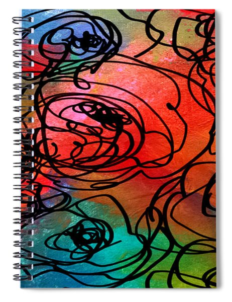 Bed Of Roses Spiral Notebook
