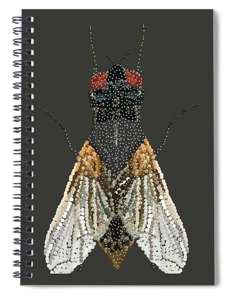 Bedazzled Housefly Transparent Background Spiral Notebook