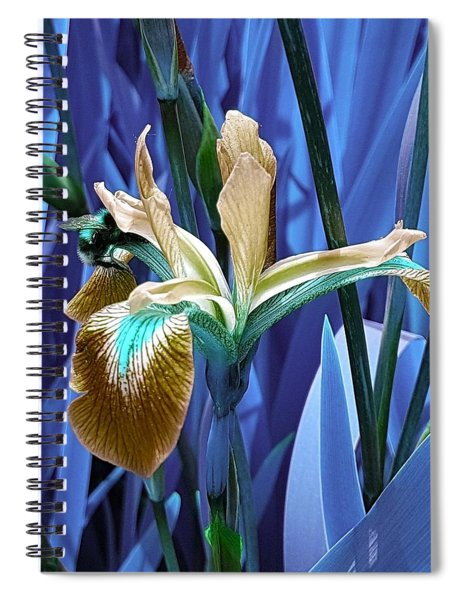Bee Dreams In Electric Blue Spiral Notebook