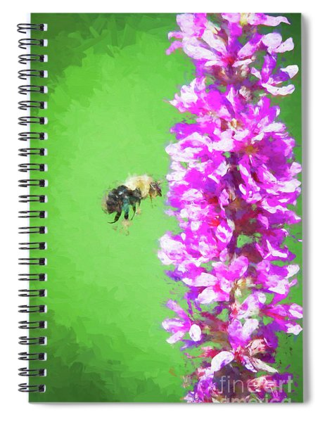 Bee Kissing A Flower Spiral Notebook