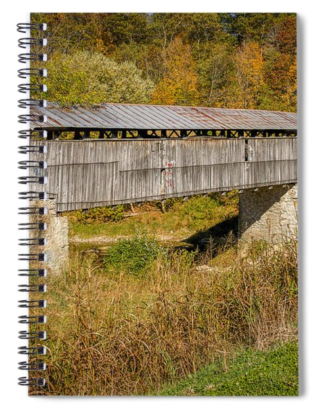 Beech Fork Or Mooresville Covered Bridge Spiral Notebook