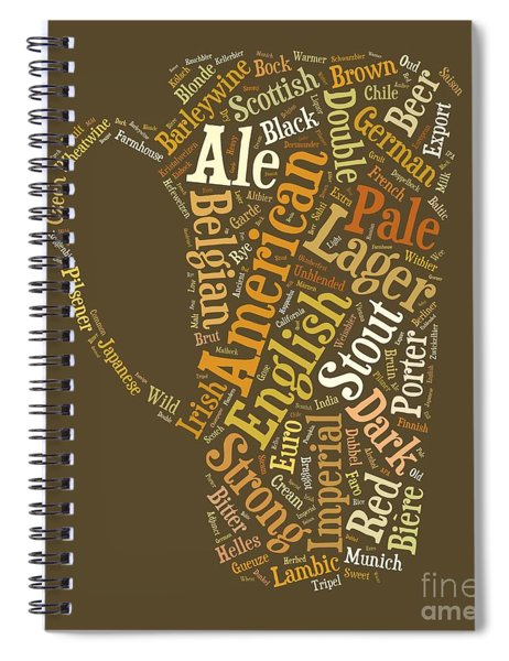 Beer Lovers Tee Spiral Notebook