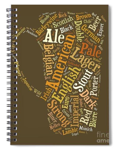 Spiral Notebook featuring the digital art Beer Lovers Tee by Edward Fielding