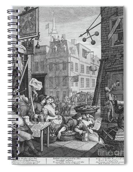 Beer Street, 1751 Spiral Notebook