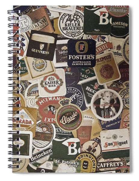Beers Of The World Spiral Notebook