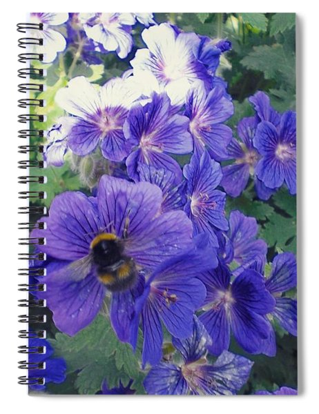 Bees And Flowers Spiral Notebook