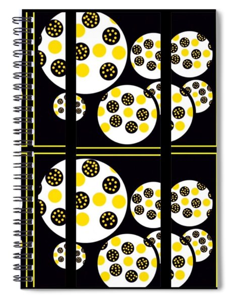 Bees Traveling Beyond Us In Panes Spiral Notebook