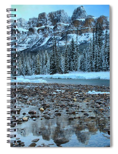 Before The Sun At Castle Mountain Spiral Notebook
