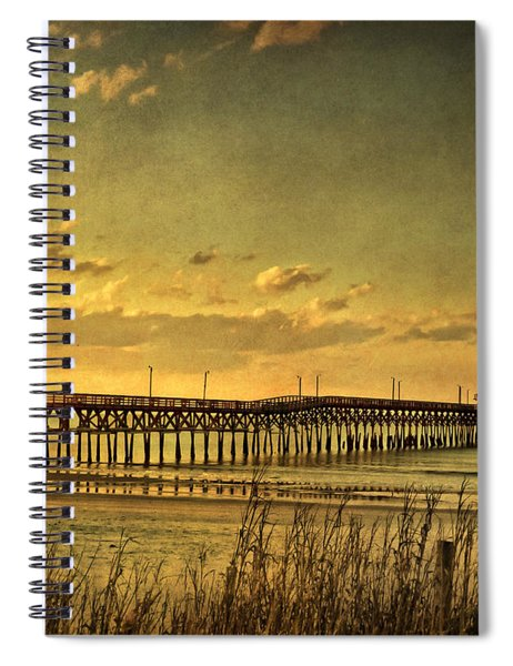Behind Cherry Grove Pier  Spiral Notebook