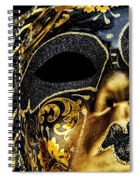 Behind The Mask Spiral Notebook