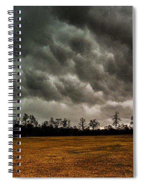 Behind The Tornado Spiral Notebook