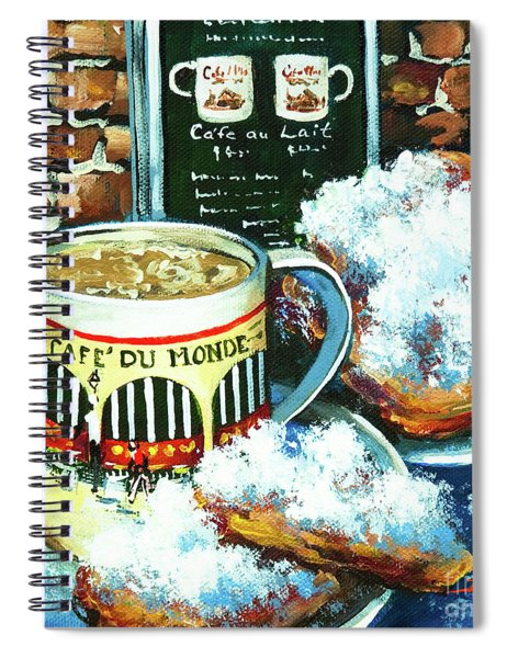 Beignets And Cafe Au Lait Spiral Notebook
