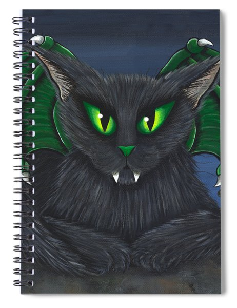 Bela Vampire Cat Spiral Notebook